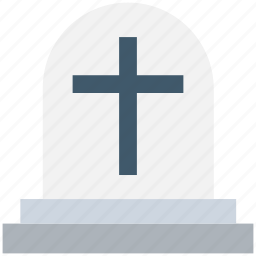 grave, gravestone, graveyard, holy cross, tombstone icon