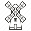 building, factory, industry, mill, windmill icon