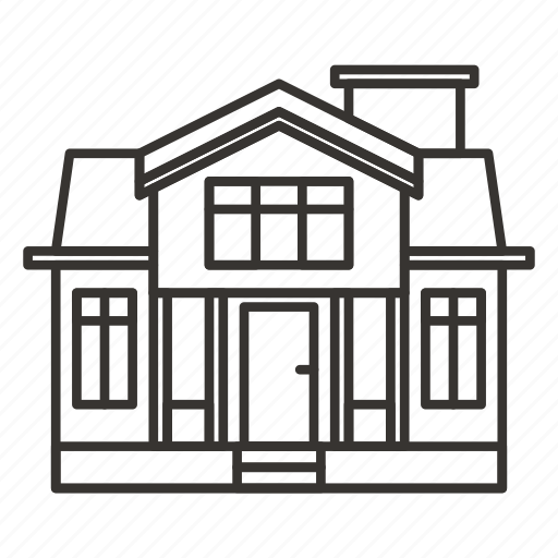 building, estate, home, house, real, villa icon