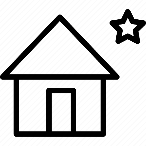 house, nighthome, square icon