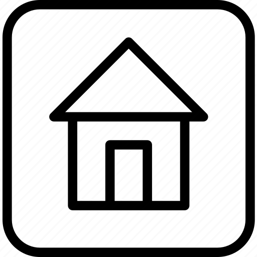 home, house, square icon