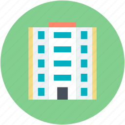 building, hotel, hotel building, inn, public house icon