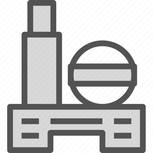 fabric, factory, water icon