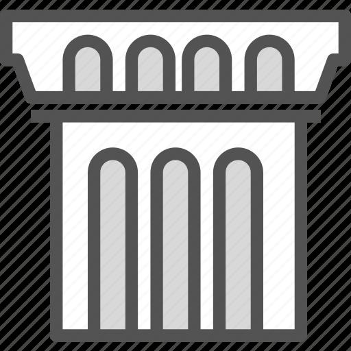 building, concrete, old, pylon icon