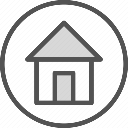 Circle Home House Icon Download On Iconfinder
