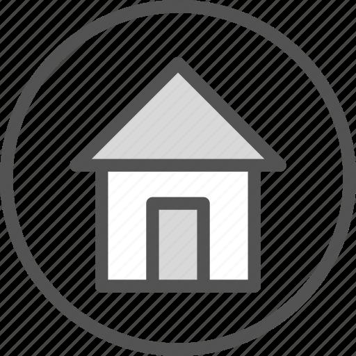 circle, home, house icon