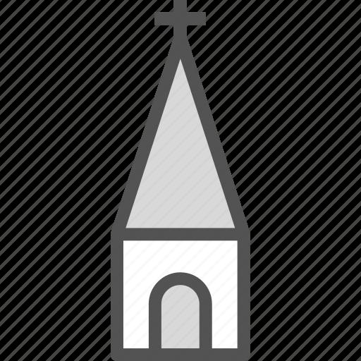 chapel, church, cross, orthodox, religion, tower icon