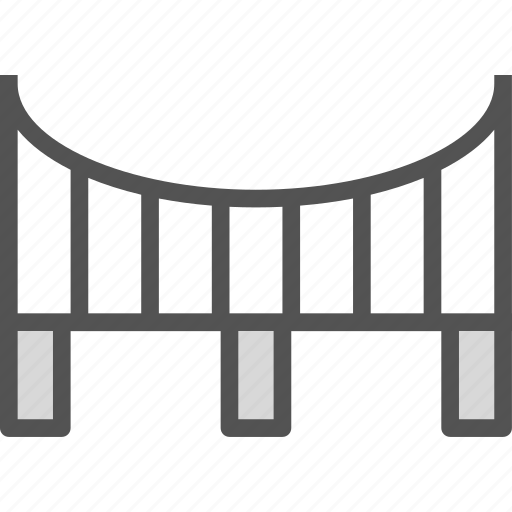 bridge, connection, cross, road, water icon