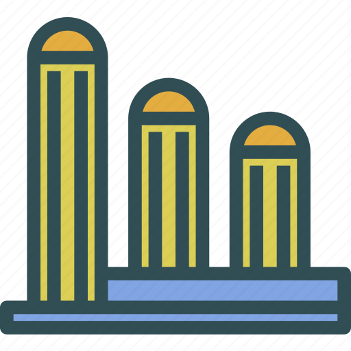 buildings, modern, officespace, towers icon
