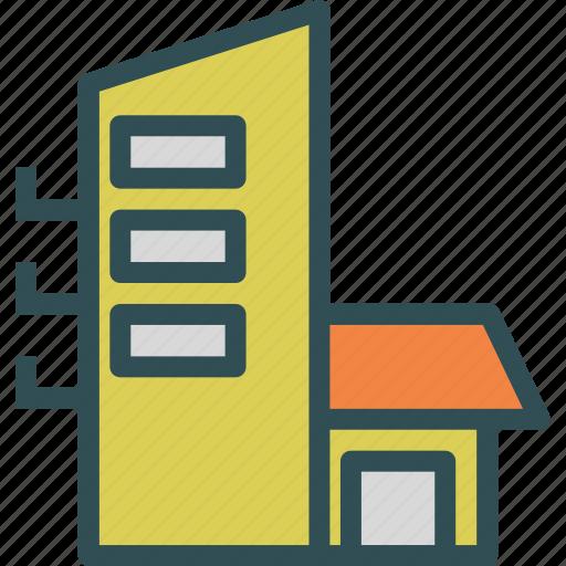 block, building, house, neighbourhood icon