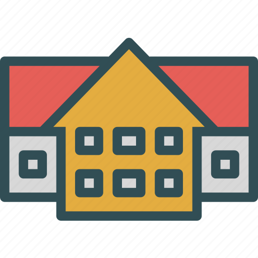 duplex, homes, house, live icon