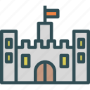 castle, citadel, emperor, king, old icon