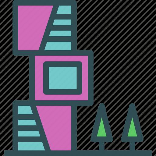 green, house, modern, windows icon