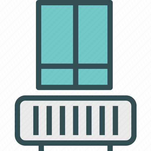 heater, inside, radiator, window icon