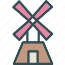 energy, farm, wind, windmill icon