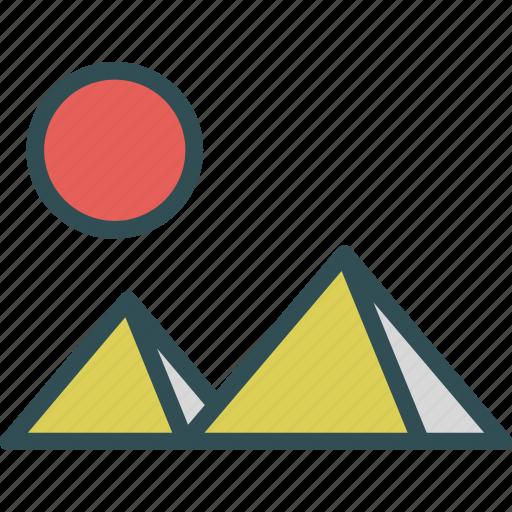 egipt, piramids, travel, trip, visit icon