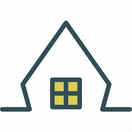 building, home, house, roof, windows icon