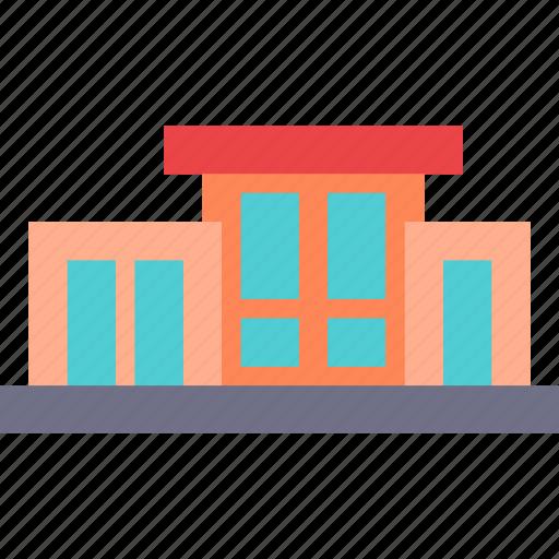 build, contemporan, home, house, modern icon