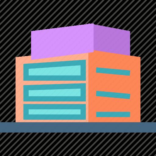 apartments, building, condos, low icon