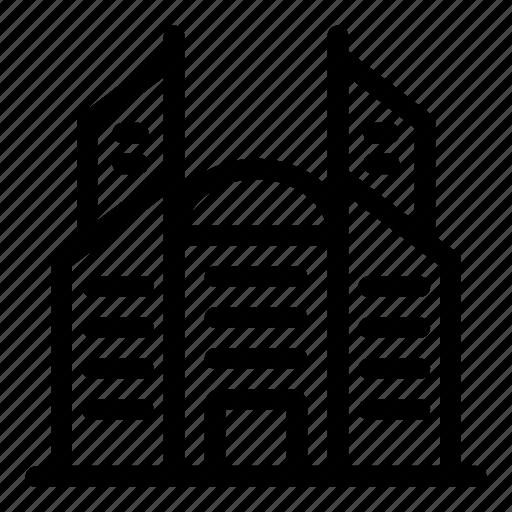 architecture, architecture and city, building, city, skyscraper, town icon