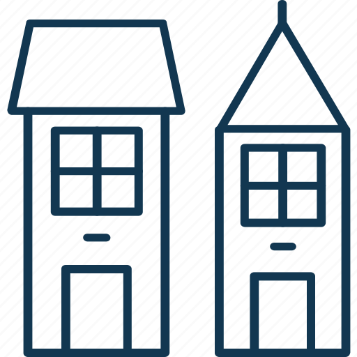 Building, flats, apartments, hotel building, residential flats icon