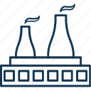 cooling tower, corporate, factory, industry, manufacturer, production unit icon