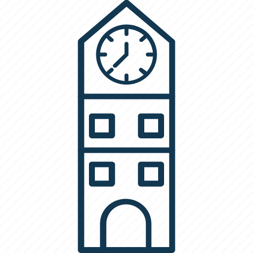 architecture, building, clock tower, modern building, skyscraper, tower icon