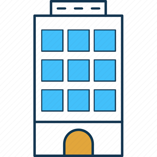 apartments, building, city building, flats, office block, residential flats icon