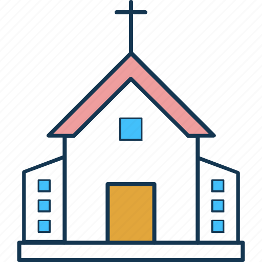 chapel, church, church building, religious, religious building, temple icon