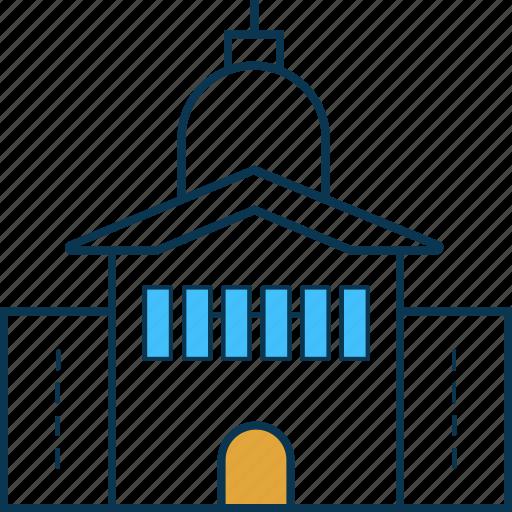 chapel, church, church building, religious, religious building, temple icon