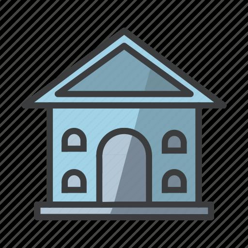 building, college, hotel, institution, museum, school, university icon