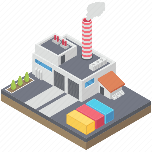 cooling tower, factory, nuclear factory, nuclear plant, power plant, power station, powerhouse icon