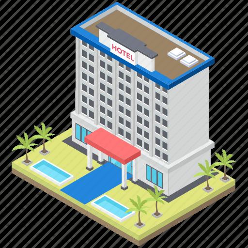 hotel, hotel infrastructure, luxury hotel architecture, motel, restaurant icon