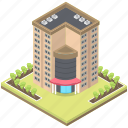 apartments, building, office block, office building block, residential flat