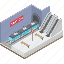 subway station, subway train, train station, transport, travel express train icon