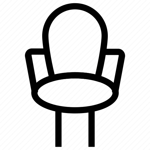 armchair, chair, desk chair, office chair, office furniture icon