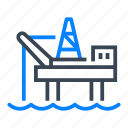 offshore, platform, drilling, oil, rig icon