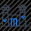 prison, jail, penitentiary, building