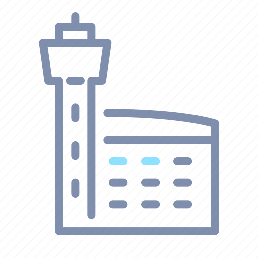 Airport, architecture, building, construction, property icon - Download on Iconfinder