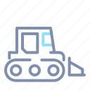 backhoe, bulldozer, construction, equipment, heavy, vehicle icon