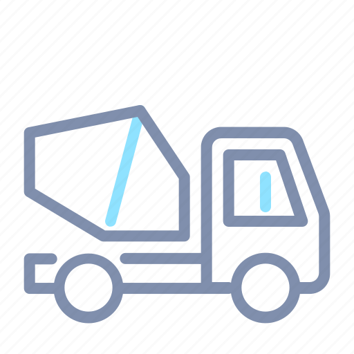 building, cement, construction, mixer, transportation, truck, vehicle icon