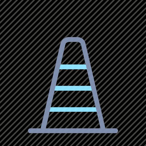 building, cone, construction, equipment, repair, tool icon