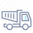 construction, dump, transport, transportation, truck, vehicle icon
