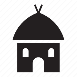 africa, african, building, construction, house, mud, structure icon