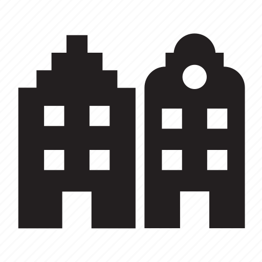 Building, architecture, monument, landmark, house, amsterdam, home icon