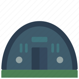 architecture, building, buildings, hangar, shelter icon
