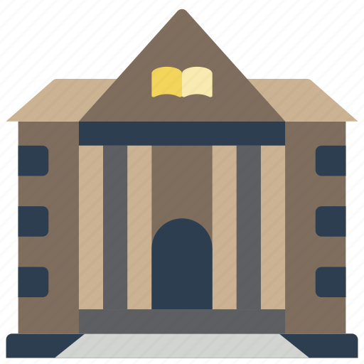 architecture, building, buildings, library icon