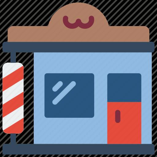 architecture, barber, building, buildings, shop icon