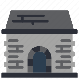architecture, building, buildings, coal, shed icon