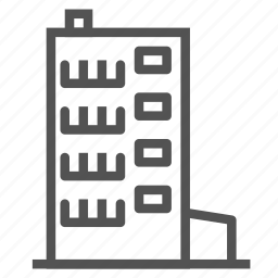 apartment, building, construction, floors, house icon